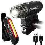 Best Bike Light Usbs - Premium USB Rechargeable Bike Light Set- Super Bright Review