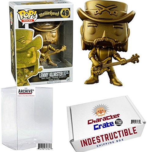 Funko Pop! Rocks Motorhead Lemmy Kilmister Golden Statue, Li