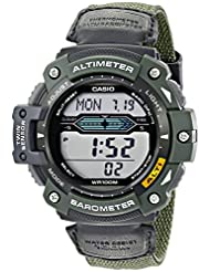 Casio Men's SGW300HB-3AVCF Twin Sensor Multi-Function Digital Green Sport Watch