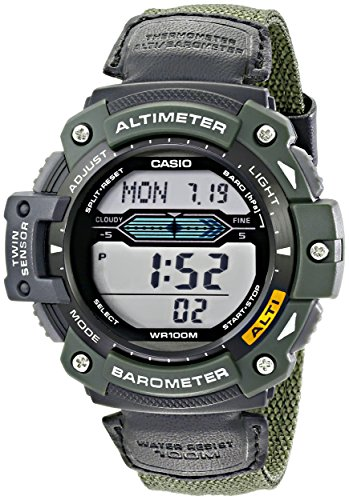 Waterproof Digital LED Multi-function Military Sports Watch Green - 2