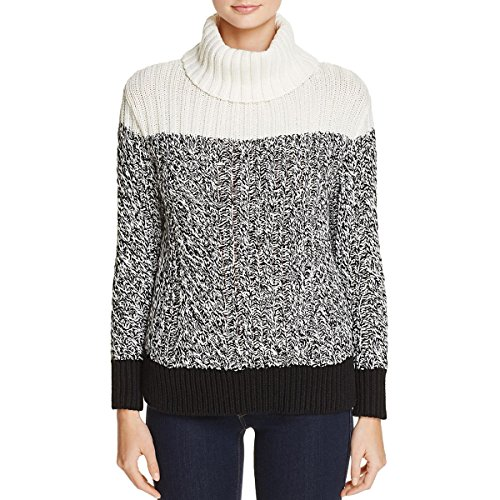 Two by Vince Camuto Womens Cowl Neck Colorblock Sweater B/W (Vince Cowl Neck)