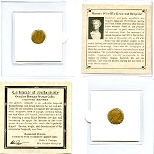 240 IT Authentic Ancient Rome,The World's Greatest Empire Coin, 3rd Century A.D,Certificate,Story And Mini Album. 18mm Very Good
