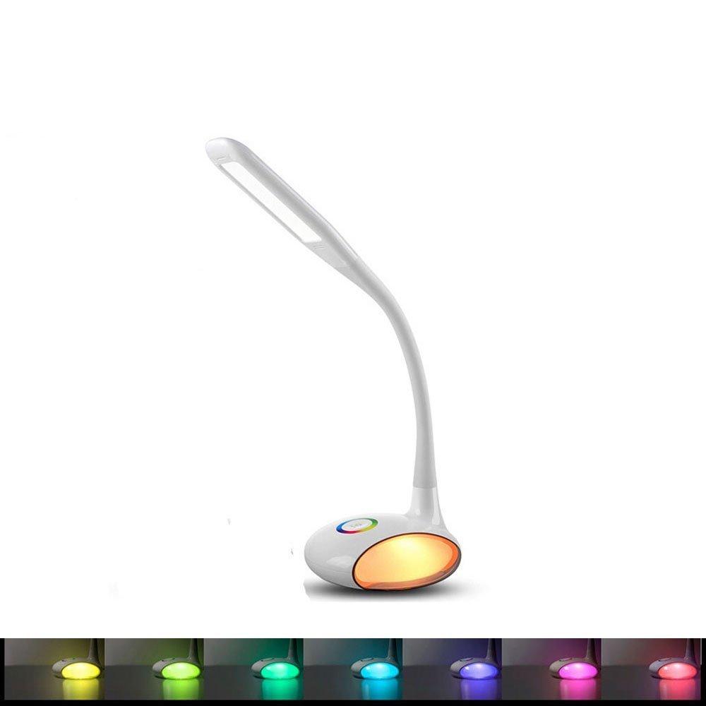 E-Plaza LED magia lámpara lámpara magia De Escritorio 3 Niveles de brillo Touch-Sensor con Multicolor Globo Base cuello flexible USB puerto 1291f7