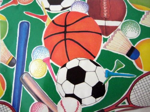 Birthday Gift Wrap Everything Sports Wrapping Paper 36 Sq Ft Roll for $<!--$11.00-->