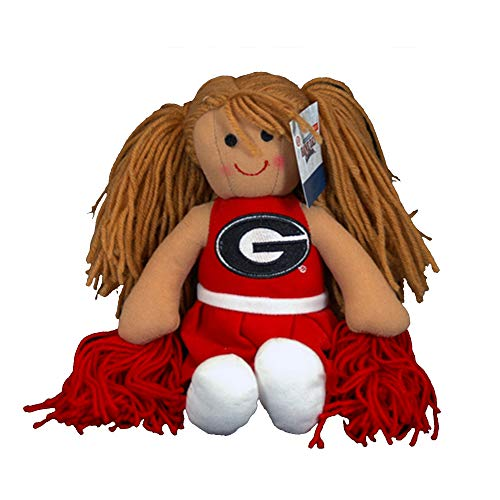 Game Day Outfitters UGA Georgia Bulldogs Plush Cheerleader Doll-11 Inch