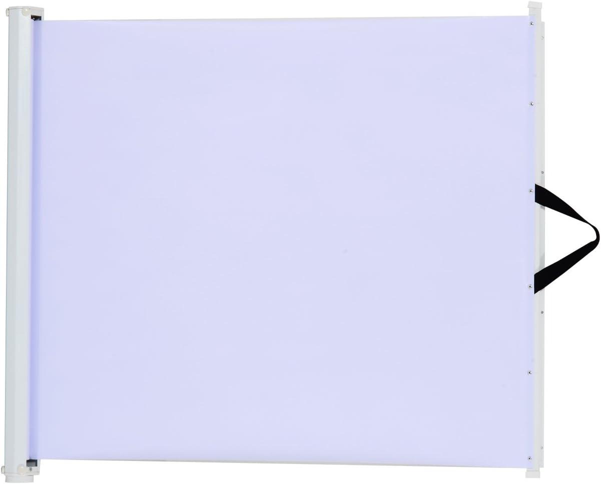 Pawhut - Puerta de Seguridad retráctil para Perros y Mascotas, protección Plegable, protección para Puerta de casa, habitación, Divisor de Escalera, Color Blanco, 115 x 82,5 cm
