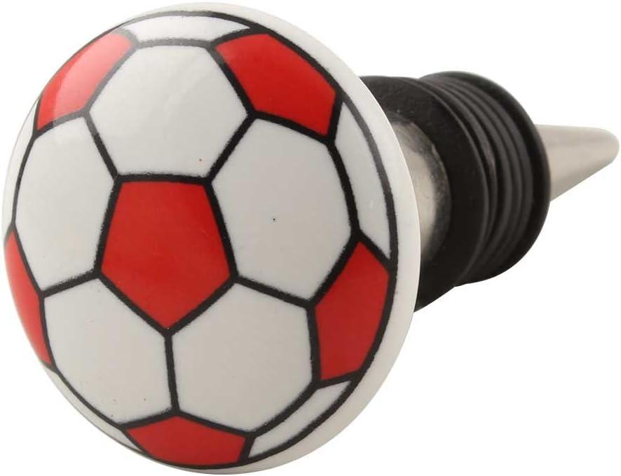 Tapón para botella de vino de cerámica con diseño de balón de ...