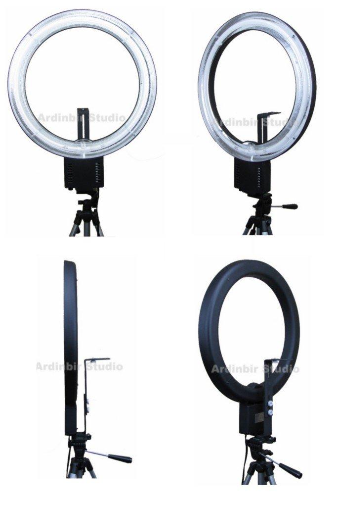 Ardinbir Photography 500W 5400K Macro Ring Light Lamp for Canon, Nikon, Panasonic, Sony, Leica, Olympus SLR/DSLR Cameras, Photo Studio and Portrait by Ardinbir