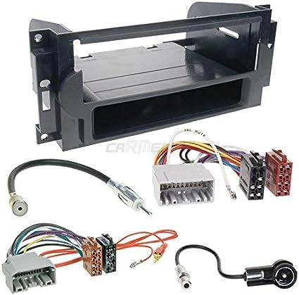 /13/1/DIN auto Radio Incasso Set con Renault cavo di collegamento RENAULT CLIO 3/Face Lift//ISO 09/ Adattatore antenna e Autoradio Nero