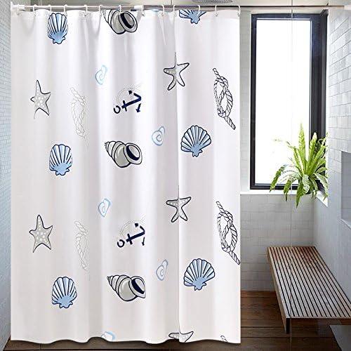 KHSKX-Cuarto de baño cortina de ducha impermeable y a prueba de moho cortina cortina de ducha