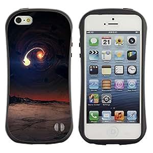 Pulsar iFace Series Tpu silicona Carcasa Funda Case para Apple iPhone 5 / iPhone 5S , Black hole scene