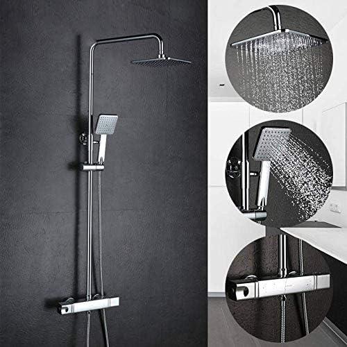 YASE-king シャワーセットウォールは、バスルームサーモスタット水栓バスタブのシャワーの蛇口ミキサータップ滝コールド&ホットミキサーシャワーの蛇口をマウント