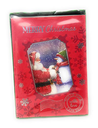 Merry Christmas Santa Snowman Box set Paper Cards with Envelopes Happy Holiday (Printable Masks For Halloween)