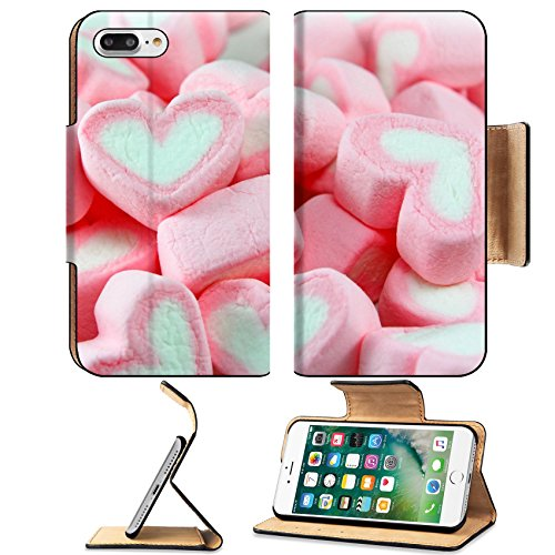 Luxlady Premium Apple iPhone 7 Plus Flip Pu Leather Wallet Case iPhone 7 Plus 17484466 Pink and White Marshmallow - Marsh Stores White