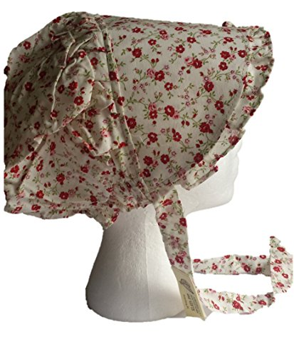 Large Amish Prairie Pioneer Sun Bonnet Costume for Women (Candy Apple (Candy Apple Costumes)