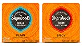 Sharwood's Indian Puppodums 2 Flavor Sampler Bundle, 1 each: Spicy and Plain, 4 Ounces