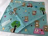 Reusable Sandwich Wrap Bag Mat - Teddy Bear Picnic