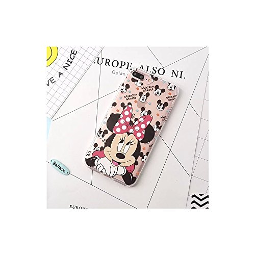 Cartoon Mickey Minnie Mouse transparent Soft Silicone Phone Case Back Cover For i phone 7 8 (I Phone 7 or 8 / Minnie)
