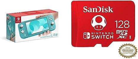 Pack Nintendo Switch Lite en azul y tarjeta microSDXC Sandisk 128GB: Amazon.es: Videojuegos