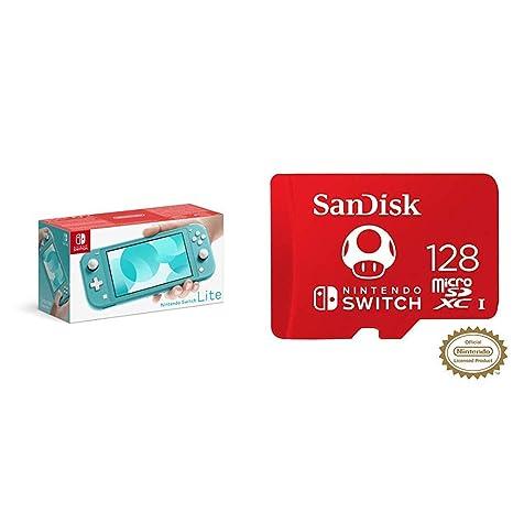 Pack Nintendo Switch Lite en azul y tarjeta microSDXC ...