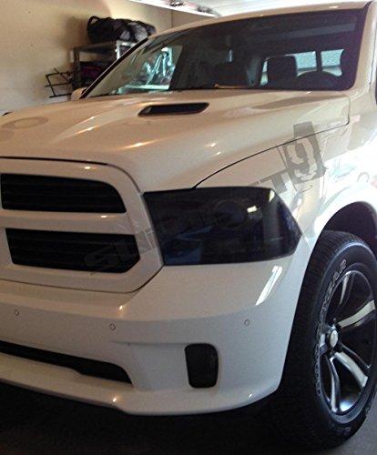 Dodge Ram 1500 2017 >> Subject 9 - Dodge Ram Pre-cut vinyl overlay headlight PLUS tint kit (2009 2010 2011 2012 2013 ...
