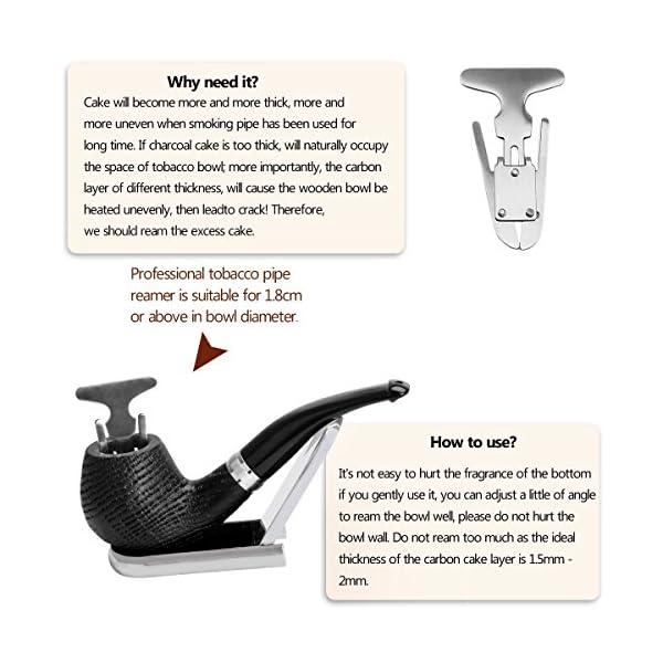 Quercia tabacco pipa, di legno pipa con Pipa Supporto, Pipe alesatore, 3 in 1 Reamers Tamper e Altri accessori, con un… 2 spesavip