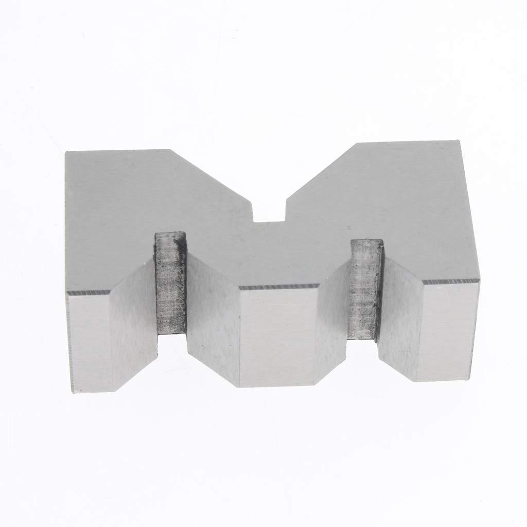 perfk 2PCS V-Bl/öcke Set Zentrierung Spannwerkzeuge 2 Zoll mit Holzkoffer