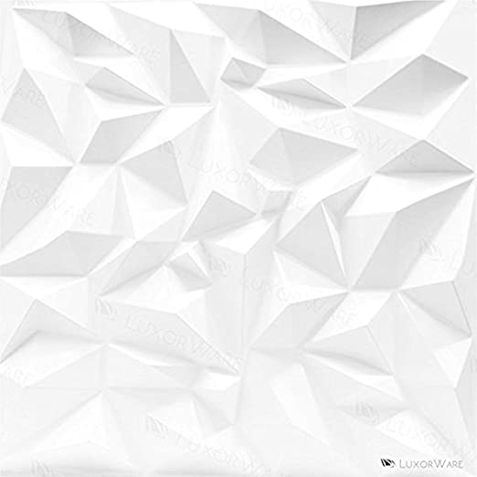Luxorware 3d Wall Panel Pack Of 12 Tiles 32 Sqf Ce Certified White