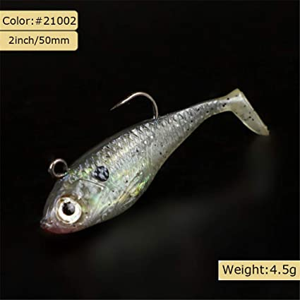 3in Lot 6 Fishing Soft Plastic Lure Shad Fluke Tail Wiggle Swimbait Catfish