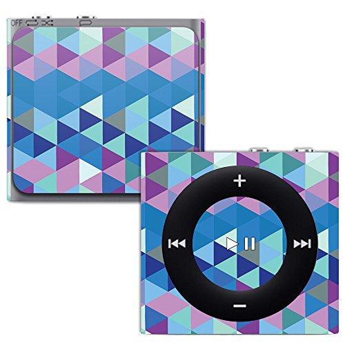 MightySkins Skin for Apple iPod Shuffle 4G - Purple Kaleidoscope | Protective, Durable, and Unique Vinyl Decal wrap Cover | Easy to Apply, Remove, and Change Styles | Made in The USA (Silicone Case Protective Shuffle)