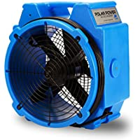 B-Air PB-25 1/4 HP 3320 CFM Polar Axial Fan High Velocity Air Mover for Water Damage Restoration, Blue