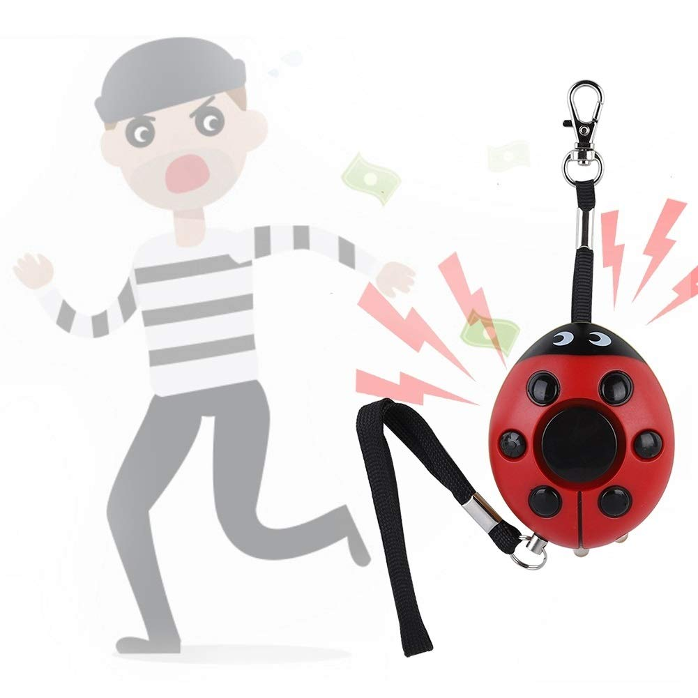 Broco 120db port/átil de alarma de seguridad personal del escarabajo de mariquita Mujer Ni/ño Eldery Proteger Alerta