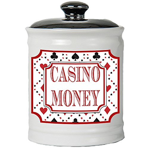 Piggy Bank Parties (Cottage Creek Casino Gifts Casino Money Jar/Round Casino Piggy Bank/Casino Party Decoration Coin Bank)