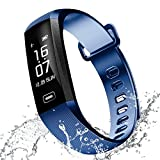 RAFERIAM Smart Bracelet Watch Bluetooth Wireless Smart Fitness Wrist Watches Tracker Blood Pressure Heart Rate Monitor for Iphone Android ( Blue )