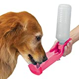 Automotive Portable Water Dispenser for Pet - 17 Oz Pet Feeding Bottle Dog/Cat Water Bottle(Colors may vary)