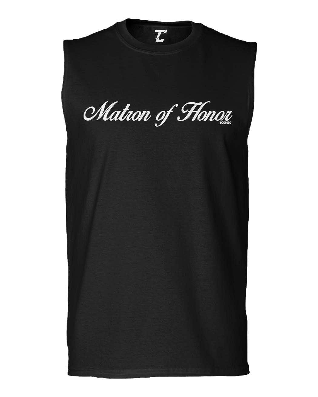 Tcombo Matron of Honor Wedding Party Bridal Mens Sleeveless Shirt