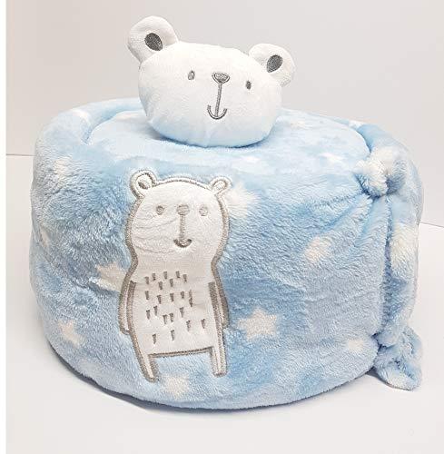 XXL Windeltorte Jungen kleiner Eisbär Blau Twamo