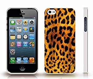 iStar Cases? iPhone 5/5S Case with Leopard Skin Pattern, Photo, Close-up , Snap-on Cover, Hard Carrying Case (White)