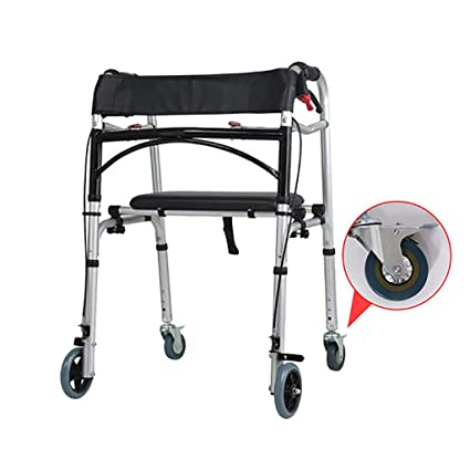 CYYC Andador discapacitado, con Taburete, Silla de Ruedas, Freno, bastón, Taburete