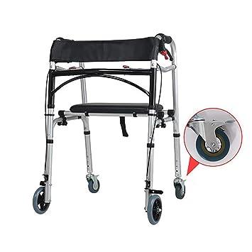 CYYC Andador discapacitado, con Taburete, Silla de Ruedas, Freno, bastón, Taburete, baño, Andador Impermeable para discapacitados: Amazon.es: Hogar