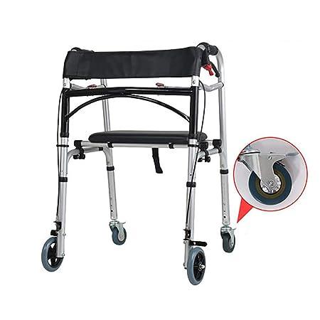 CYYC Andador discapacitado, con Taburete, Silla de Ruedas ...