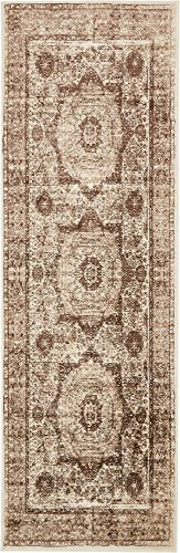(Unique Loom Imperial Collection Modern Traditional Vintage Distressed Dark Beige Runner Rug (3' 0 x 9' 10))