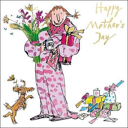 Woodmansterne - Tarjeta para el Día de la Madre (WDM-448171) – Regalos, flores y café – acabado de floritura