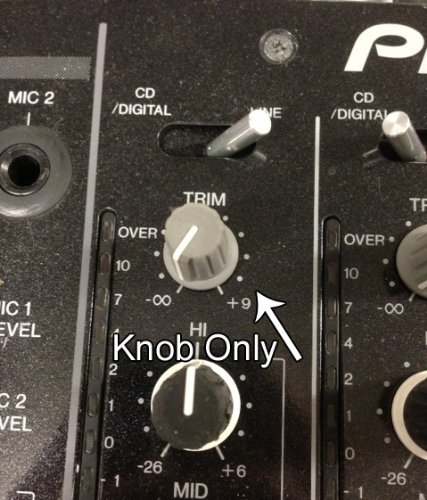 Pioneer ROTARY SW TRIM KNOB S (C) DJM800/900NSX/900NSXW/2000 DAA1204