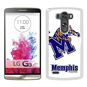 New Unique Custom Designed Case With NCAA American Athletic Conference AAC Football Memphis Tigers 2 White For LG G3 Phone Case