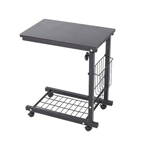 Ordinaire Amazon.com : Ydida Small Desk Multi Function Height Adjustable Sofa Side  Table Storage Basket Desk Home Lazy Laptop Table Wheel Mobile Computer Desk  ...