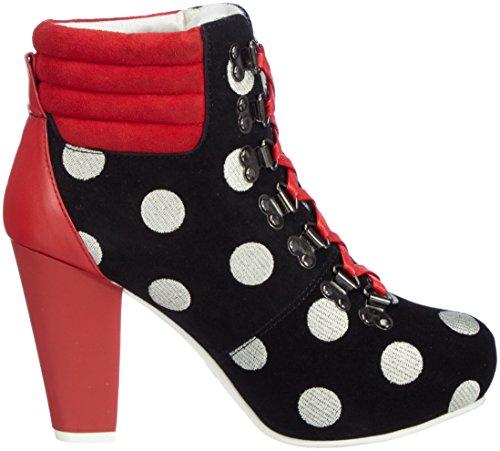 Lola Ramona Women's Angie P Boots Black (Black/White/Red 44) PSARH