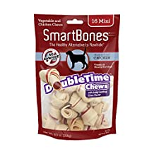 SmartBones DoubleTime Bones Chicken Dog Chew, Mini,  16 pieces/pack