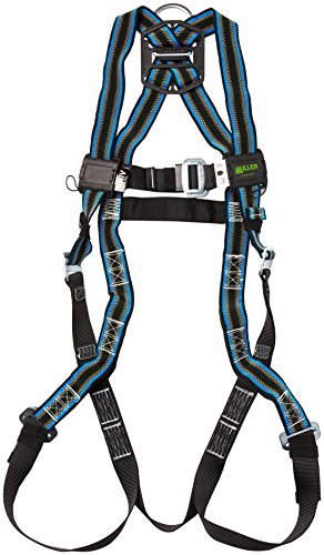 Miller by Honeywell E650D/UBL DuraFlex 650 Series Full-Body Stretchable Harness with Mating Buckle Legs Straps, Universal, Blue -