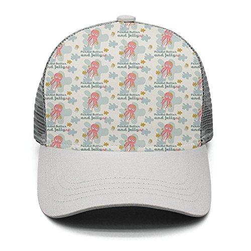 - Casual Baseball Caps Kawaii Funny Humor Jellyfish Peanut Butter Vintage Adjustable Mesh Trucker Hat
